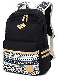 Fresion grand capacité Toile sac à dos pour Université scolaire Pour Hommes et Femmes Adaptateur 14 portable