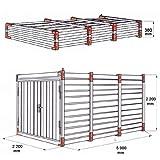 Baucontainer Garage Container Lagercontainer Gerätecontainer Blechcontainer mit TÜV Größen (L) 5m x 2,2m x 2,2m - 6