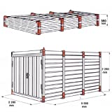 Container Baucontainer Schnellbaucontainer Lagercontainer Blechcontainer Materialcontainer 500cm x 220cm x 220cm extrem Stabil mit TÜV inkl. Boden - 5