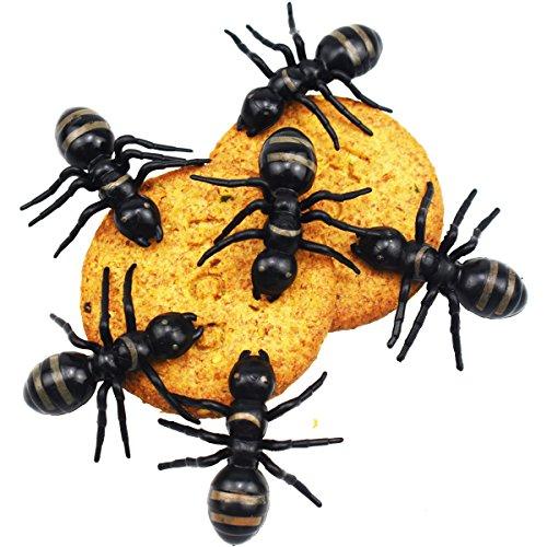 50 stücke Große Ameise Riesen Ameisen Königin Schwarz Kunststoff Realistische Insekten Witz Scary Tricky Spielzeug für Halloween Party Supplies Decor