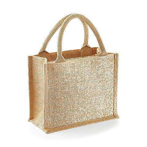 Westford Mill - Mini sac cadeau en jute brillant (Taille unique) (Doré)