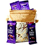 Cadbury Dairy Milk & Skylofts Chocolates Gift Pouch ( 15 Pcs )