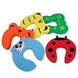JT-Amigo Pack de 10 Piezas Tope Clip Protector Puerta Dedos Seguridad para los Niños