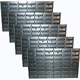 5er Set Metall-Wandregal für Sichtboxen als Schraubenregal Werkstatt Kleinteileregal