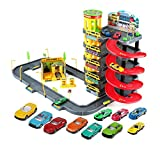 Giocattoli per lo sviluppo intellettuale giocattoli assemblati per bambini giocattoli per auto giocattoli per parcheggi giocattoli interattivi genitore-figlio ( Color : Red , Size : 78*41.5*40.5cm )