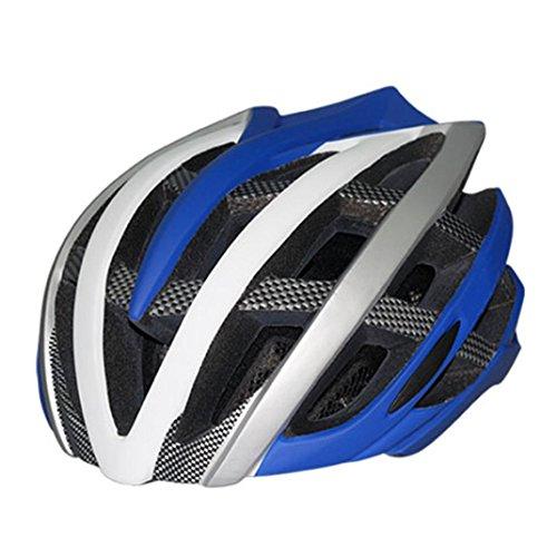 ESAILQ Reiten skateboarding Roller Stoßdämpfer ultraleichte einteilige Helm Helm Männer und Frauen erwachsene Helme (Blau) (Bilder Von Rockstar Kostüme)