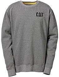 Caterpillar Mens Trademark Crewneck Sweatshirt Black