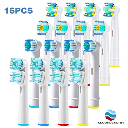 CloundendAM 16 Cabezales compatibles con Cepillos Electricos Oral B. b9016d134ac7