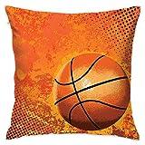 ShuicYcY Basketball Quadratischer Kissenbezug Kissenbezug Mode Home Dekorative Kissenbezug Baumwolle Kissenbezug (45 cm x 45 cm)