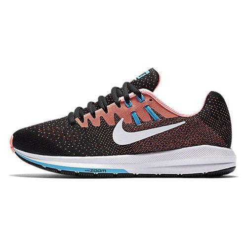 Nike Damen Wmns Air Zoom Structure 20 Laufschuhe Mehrfarbig (Black/lava Glow/chlorine Blue/white)