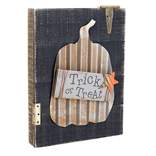Honig in Me Trick Treat schwarz 15x 12Palette Holz verzinktem Metall Halloween Tischplatte Wandschild