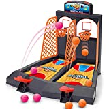 Basketball Game Educationabl Mini Basket Ball Double Finger Shooting Toy Set Funny Pinball Interactive Board Game for Kids Fa