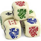 Set of 5 Poker Dice, Great for Travel by Brybelly by Brybelly