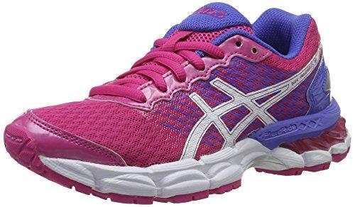 Asics Gel-Nimbus 18 Gs, Chaussures de Mixte Enfant, Multicolore (Sport Pink/White/Primrose Purple), 38 EU