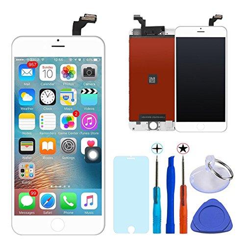 KXC ST LCD Displayglas Touchscreen Ersatz Bildschirm Digitizer+(Professionelle Wartung der Instrumente Und Glas Bildschirm Beschützer) Für Iphone 6 (4,7'' Weiße) (Iphone 6-bildschirm Und Digitizer)