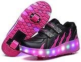 Scarpe con Ruote e LED Rotelle da Skateboard Delle Lampeggiante