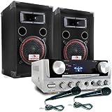 DJ EASY Equipo de sonido profesional 400W Altavoces y amplficador