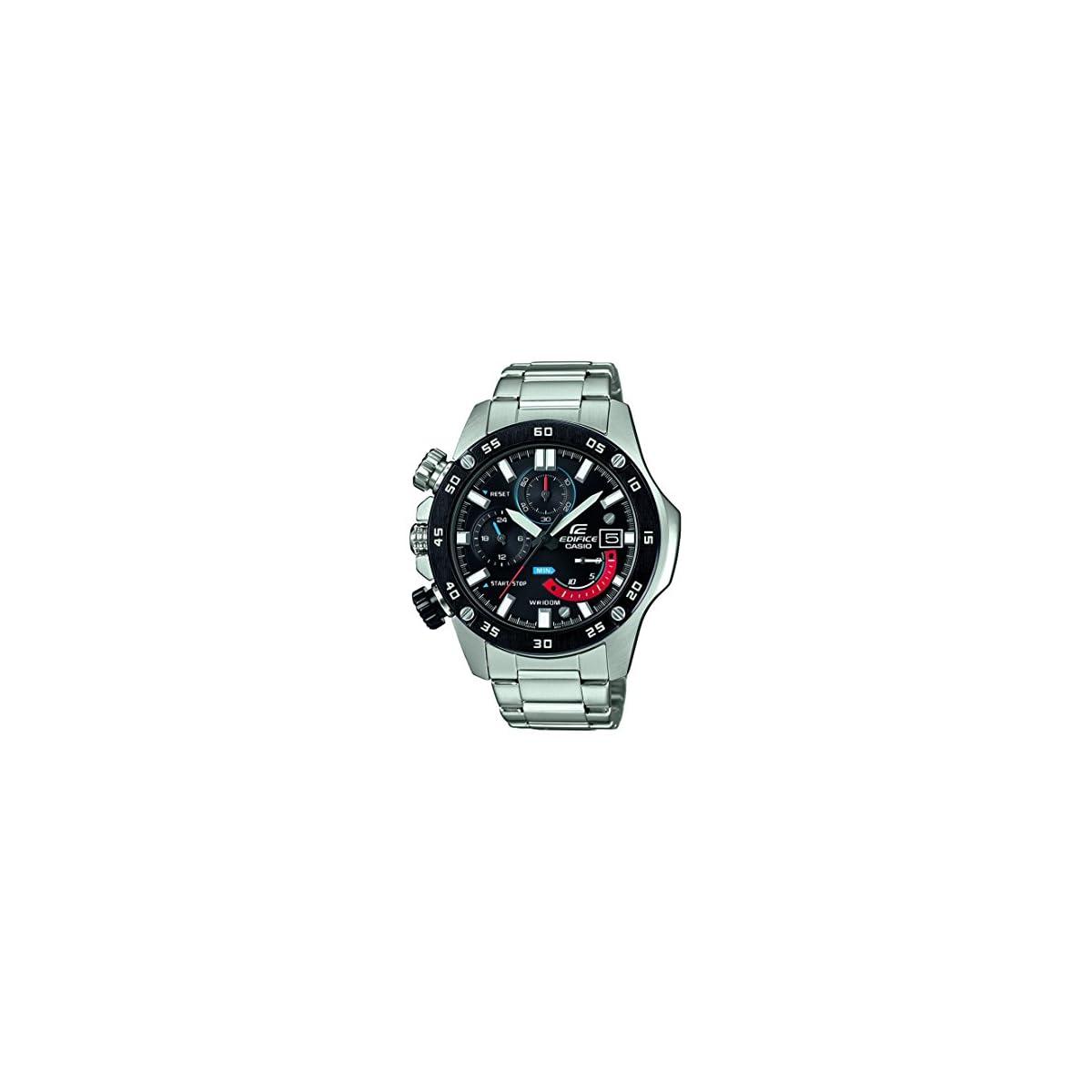 51AxJdtqKBL. SS1200  - Casio Reloj Cronógrafo para Hombre de Cuarzo con Correa en Acero Inoxidable EFR-558DB-1AVUEF