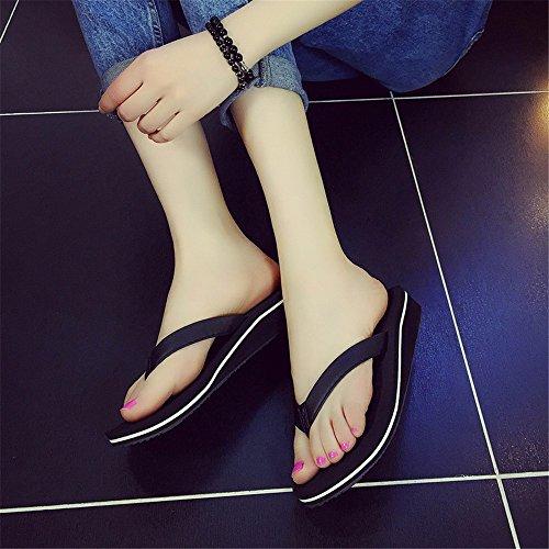 Flyrcx Summer Simple Plage Antidérapant Pantoufles Plage Chaussures Pin Pantoufles B