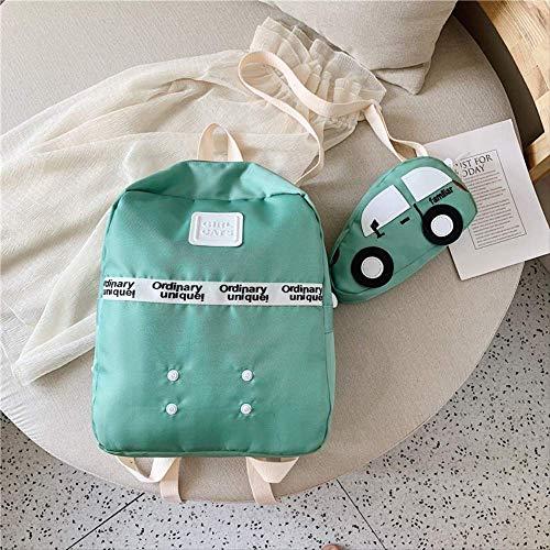 Kinder Tasche, Rucksack Süße Auto Kind Rucksack Jungen Und Mädchen Student Tasche Hochwertige Kinder Tasche Schule High Capacity, Süße Cartoon Baby grün -