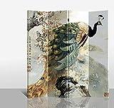 Fine Asianliving - Biombo - tabique decorativo para habitaciones - SEPARADOR DE ESPACIOS – Divisorio - impresión sobre lienzo - Los biombos de tela - Biombo impreso sobre lona - tabique decorativo para habitaciones - muebles decoración del hogar impreso lienzo - Para Pared Decoración Para Hogar Sala Cocina Dormitorio- de impresion bilateral en el lienzo de TNT de calidad - Decoracion cuarto - Biombo de madera con imagen impresa - habitación separador - Decor lienzo decorativo - 140