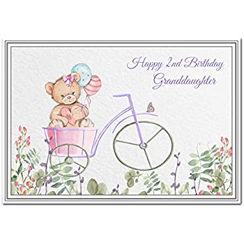 Happy 2nd Birthday Granddaughter Card