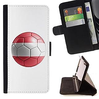 STPlus Austria Austrian Soccer Football Ball Flag Wallet Card Holder Cover Case for Motorola Moto Z2 Force Edition/Moto Z2 Play