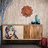 Native Home Sideboard Design, mit Bild, modern, massiv, mit Türen, Mangoholz, Kommode, HxBxT: 85 x 160 x 45 cm, bunt