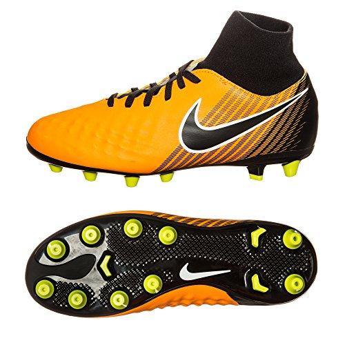Nike JR MAGISTA Ona II DF agpro Sneaker, Kinder 36 Gelb-Schwarz (Schuhe Nike Gelbe Kinder Für)