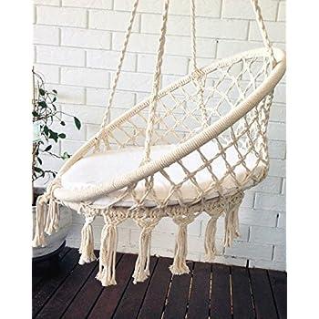 Azul Bereber Crochet Hanging Chair Macrame Art Hammock