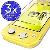 UTECTION 3X Cristal Templado para Nintendo Switch Lite 2019 (5.5') - Protector de Pantalla 9H Crystal Clear - Máxima protección Anti-Golpes - Sin burbujas - Vidro Templado Cristal Blindado