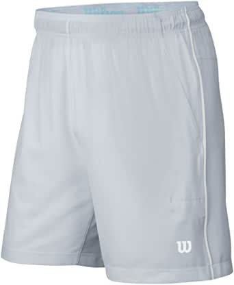 Wilson Men's Late Summer Stretch Woven Pocket 8-Inch Shorts-Grey, X-Large