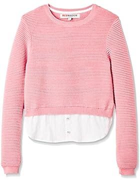 RED WAGON Mädchen Verkürzter Pullover mit eingenähtem Hemd