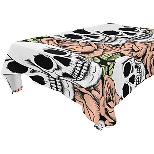 Halloween Totenkopf Tischdecke Tisch Decke 137 x 259 cm Skelett Tischtuch Deko