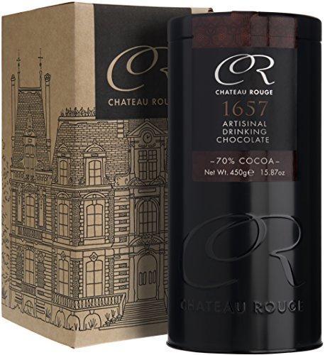 Trinkschokolade Dunkle 70% - 1657, Ohne Zuker Handgemacht aus GVO-freiem Anbau, Für Luxus Heisse Schokolade, 500g