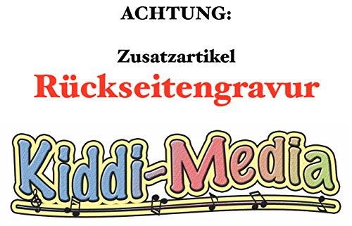 Zusätzliche Rückseiten-Gravur für Artikel von KIDDI-MEDIA