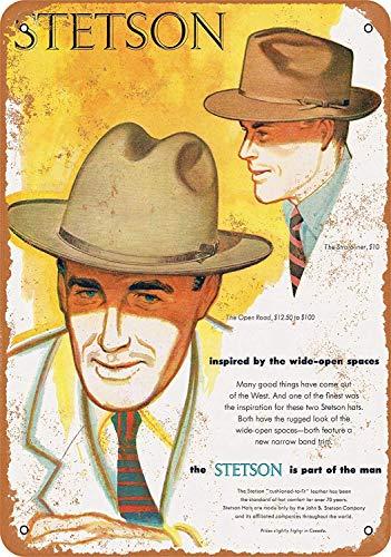 c2bd5737 Stetson Hats Póster de Pared Metal Creativo Placa Decorativa Cartel de  Chapa Placas Vintage Decoración Pared