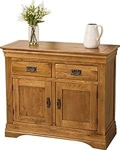 fran ais petit buffet en ch ne massif rustique armoire. Black Bedroom Furniture Sets. Home Design Ideas