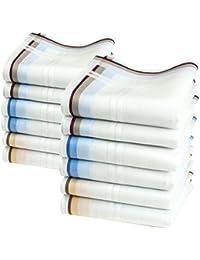 """Mouchoirs quotidiens """"Lewis"""" - 12 unités de 40cm x 40cm"""