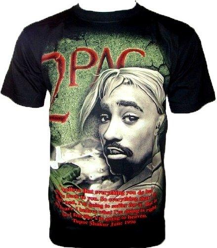 Rock machine T-Shirt Hip Hop Maglietta da Fan Nero Black