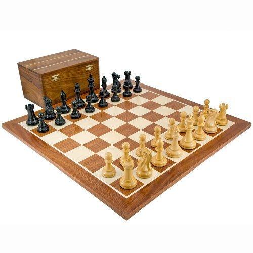 Compétition Noir et Sheesham Set D'échecs avec boîtier