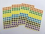 Gemischte Farben Papier Sticker, 8mm Zirkular, 384 Etiketten, selbstklebende Klebeetiketten, Wirtschaft Packung