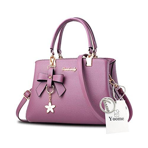 Sacchetti eleganti della borsa della maniglia del pendente del fiore di Yoome per le donne con i sacchetti casuali del pannolino - azzurro Viola