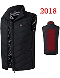 Imixcity 2018 Insulated Heated Vest,Rechargeable USB Electric Intelligent Heating for Outdoor Unisex Newest