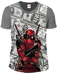 9dc859e79e13e1 Deadpool Herren Premium T-Shirt - Bling Bling Dollars (Multicolor) (S-