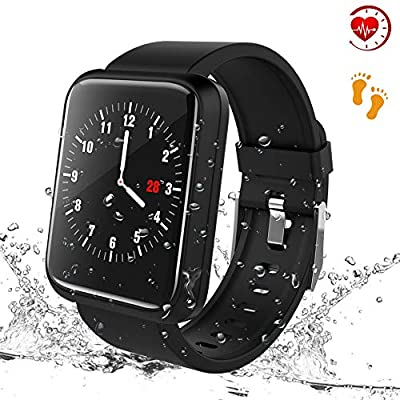 Beaulyn Fitness Trackers, Smart Watches Heart Rate Blood Pressure Monitor Activity Trackers with 8 Sports Modes Steps Calories Counter IP67 Waterproof for Android IOS for Kids Women Men from beaulyn