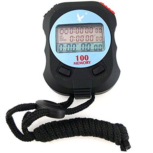 PC100A 3 Filas 100 Memorias Cronógrafo Eléctrico Cronómetro Deportivo Profesional Bobury