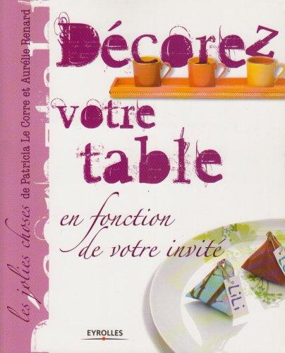 Décorez votre table : En fonction de votre invité