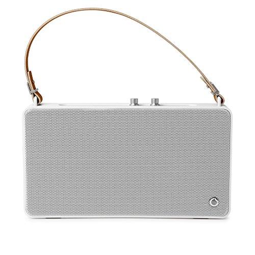GGMM E5 Wireless Multiroom Lautsprecher Airplay mit Amazon Alexa, WiFi Lautsprecher Multiroom für Musik Streaming + Bluetooth, Satter Sound und kraftvoller Bass (20W Treiber), Höhen- und Bassregler, 15 Stunden Akkulaufzeit, USB-Ladeport, Airplay DLNA Spotify iHeartRadio. (Weiß)