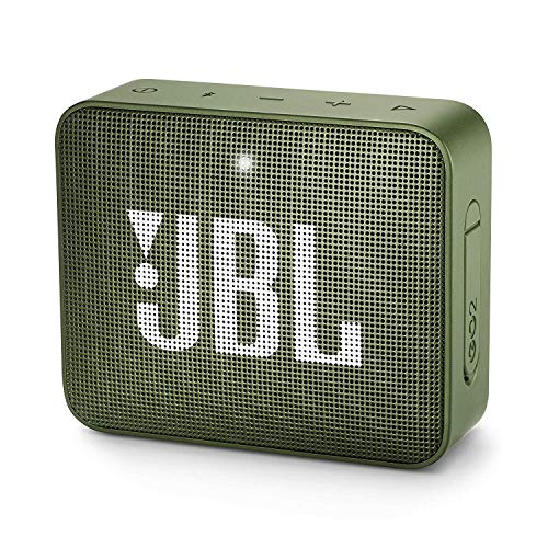 JBL GO 2 kleine Musikbox - Wasserfester, portabler Bluetooth-Lautsprecher mit Freisprechfunktion - Bis zu 5 Stunden Musikgenuss mit nur einer Akku-Ladung Grün